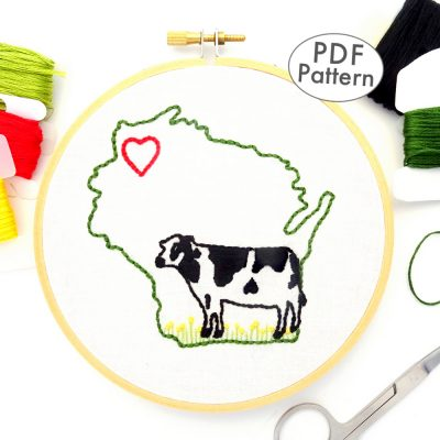 Wisconsin Hand Embroidery Pattern