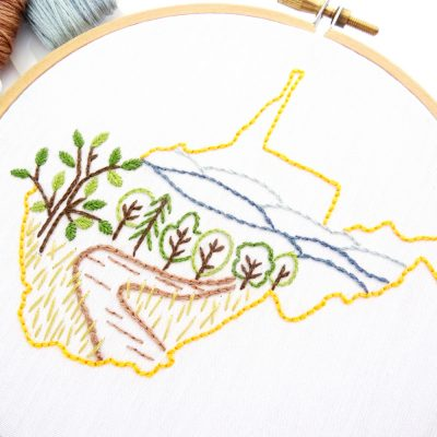 West Virginia Hand Embroidery Pattern