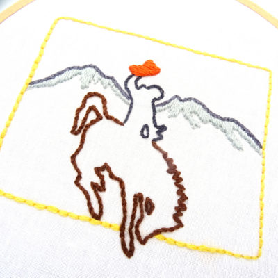 Wyoming Hand Embroidery Pattern
