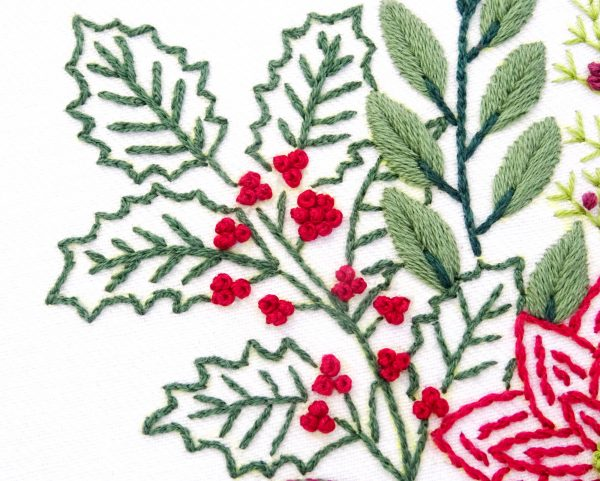 Christmas Bouquet Hand Embroidery Pattern