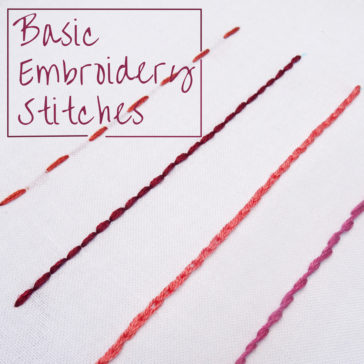 Basic Embroidery Stitches: 4 Line Stitches