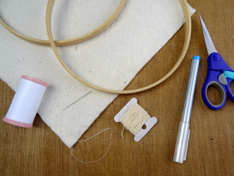 How to Finish an Embroidery Hoop
