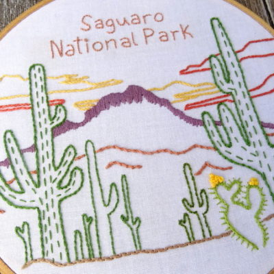 Saguaro National Park Hand Embroidery Pattern