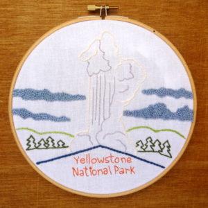 Yellowstone National Park Embroidery Pattern