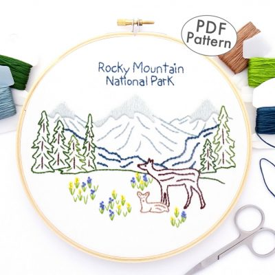 Rocky Mountain National Park Hand Embroidery Pattern