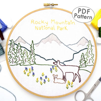 Rocky Mountain National Park Embroidery Pattern