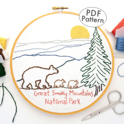 Great Smoky Mountain National Park Embroidery Pattern