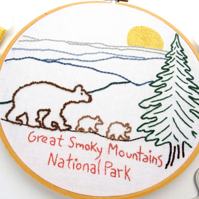 Great Smoky Mountains National Park Embroidery Pattern