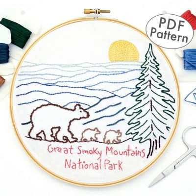 Great Smoky Mountains National Park Hand Embroidery Pattern
