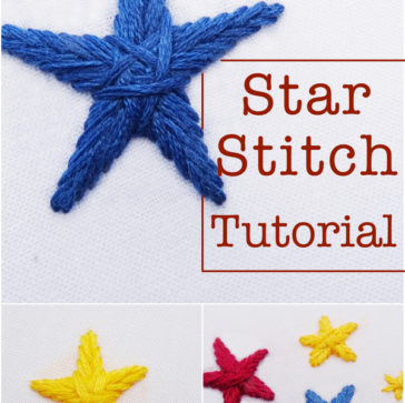 Star Stitch Tutorial ~ WanderingThreadsEmbroidery.com
