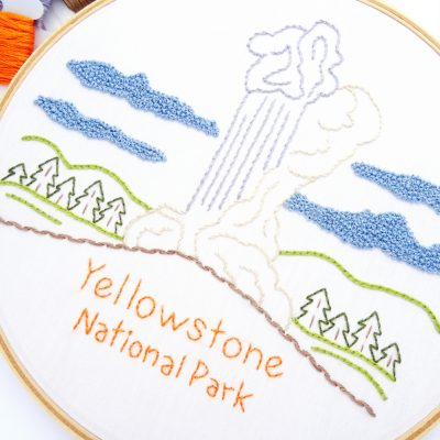 Yellowstone National Park Hand Embroidery Pattern