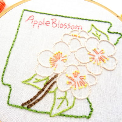Arkansas State Flower Hand Embroidery Pattern {Apple Blossom}