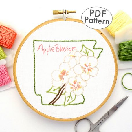 Arkansas State Flower Hand Embroidery Pattern {Apple Blossom}
