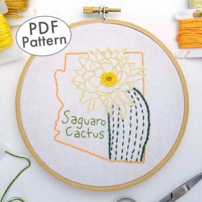 Arizona Flower DIY Hand Embroidery Pattern