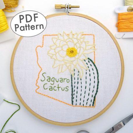 Arizona Flower DIY Hand Embroidery Pattern