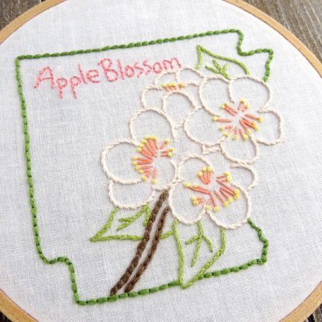 Arkansas State Flower Hand Embroidery Patten {Apple Blossom}