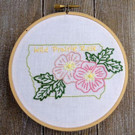Iowa State Flower Hand Embroidery Pattern {Wild Prairie Rose}