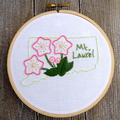 Connecticut State Flower Hand Embroidery Pattern {Mt. Laurel}