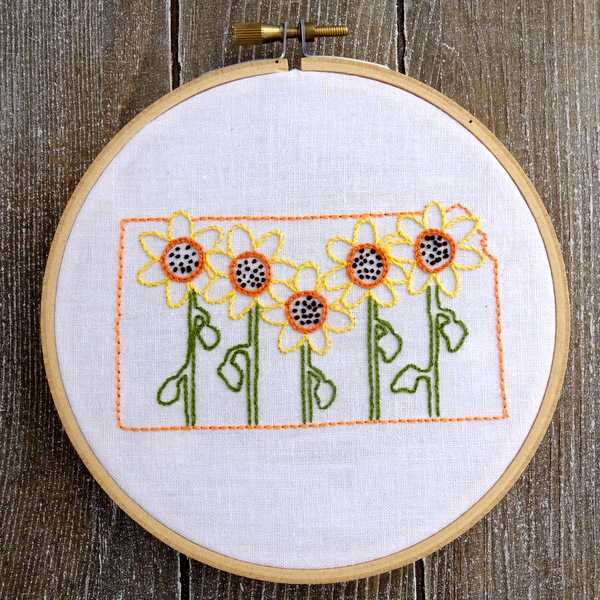 Kansas State Flower Hand Embroidery Pattern