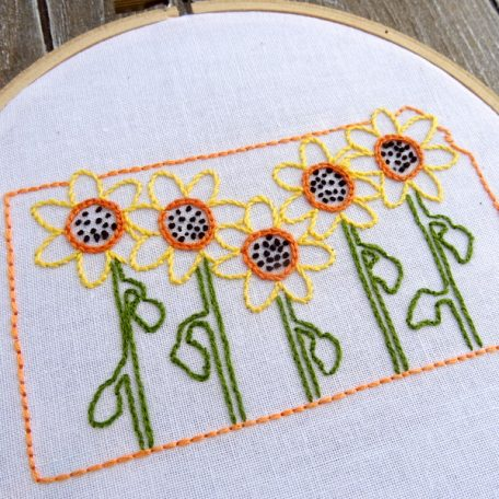 Kansas State Flower Hand Embroidery Pattern {Sunflower}