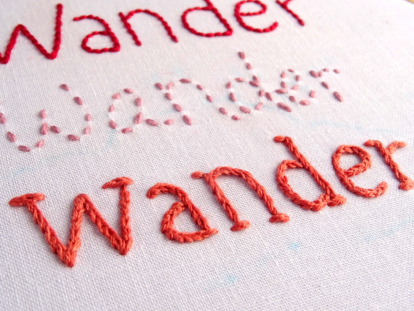 How to Embroider Letters by Hand