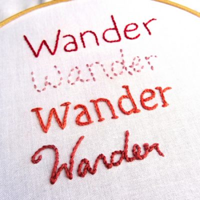 How to Embroider Letters