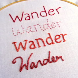 How to Embroider Letters by Hand {Part 1}