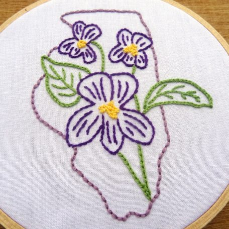 Illinois State Flower Embroidery Pattern {Violet}
