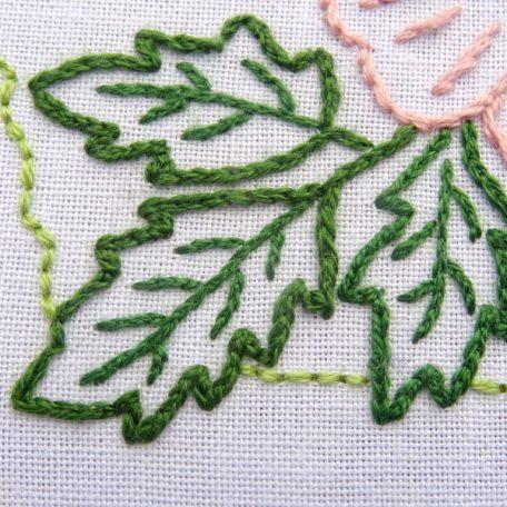 Iowa State Flower Embroidery Pattern {Wild Prairie Rose}
