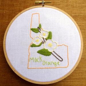 Idaho State Flower Pattern {Mock Orange}