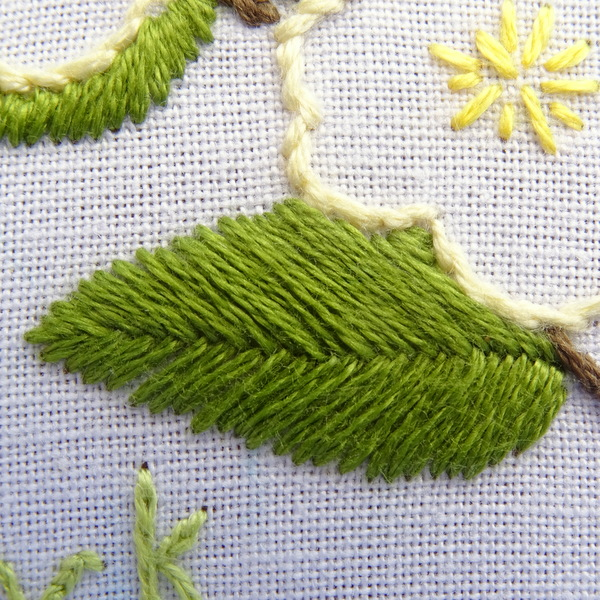 Idaho state flower embroidery pattern mock orange