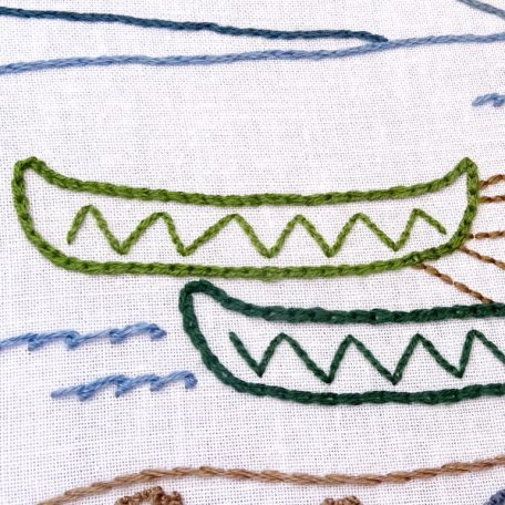 Glacier National Park Embroidery Pattern