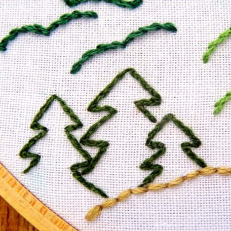 Zion National Park Embroidery Pattern