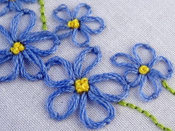 Lazy Daisy Embroidery Stitch Tutorial