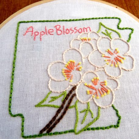Arkansas State Flower Embroidery Pattern {Apple Blossom}