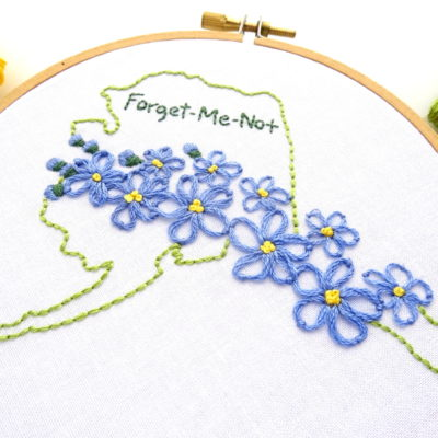 Alaska Flower Hand Embroidery Pattern {Forget-Me-Not}