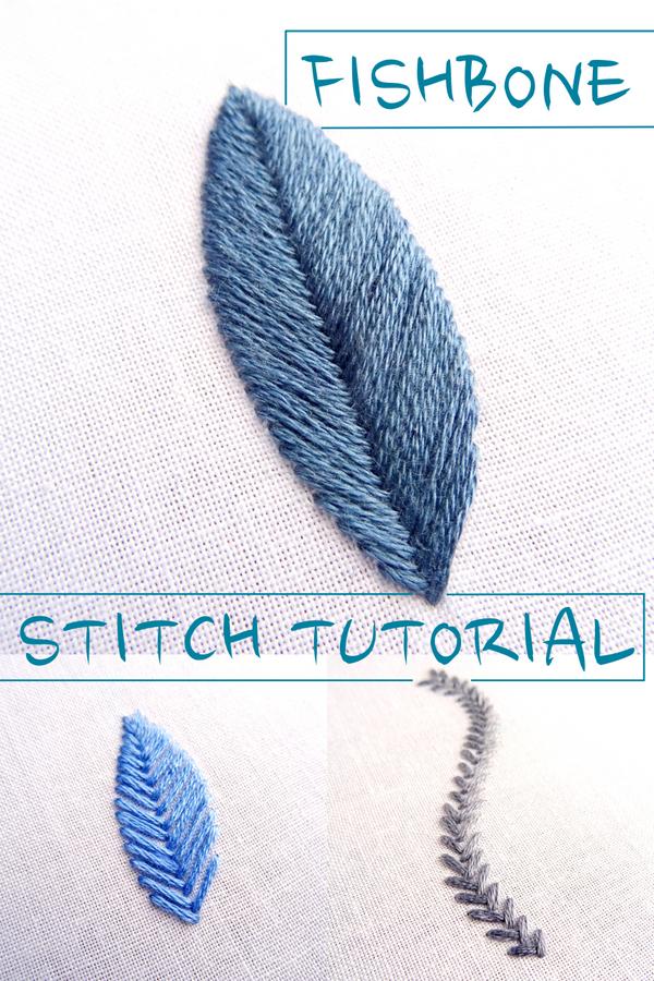Fishbone Stitch Embroidery Tutorial - Wandering Threads