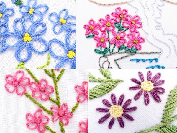 Lazy Daisy Stitch Flower