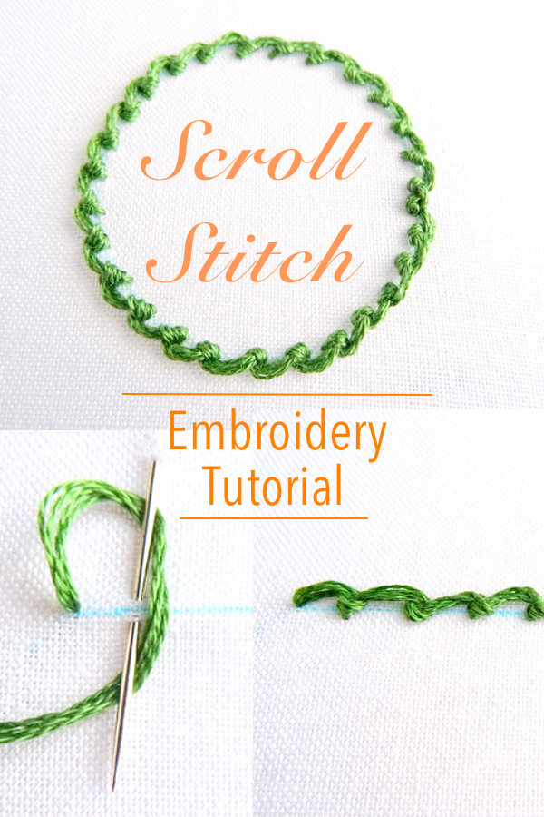 Scroll Stitch Embroidery Tutorial