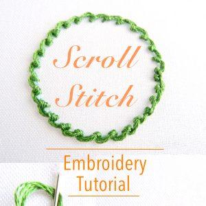 Scroll Stitch Embroidery Tutorial