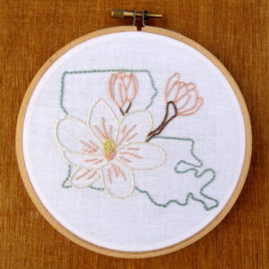 Kentucky State Flower Embroidery Pattern {Goldenrod}