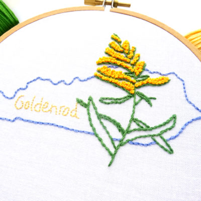 Kentucky Flower Hand Embroidery Pattern {Goldenrod}