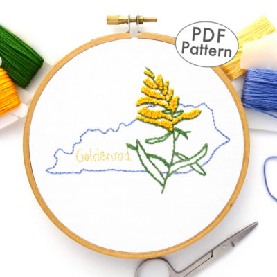Kentucky State Flower Hand Embroidery Pattern {Goldenrod}