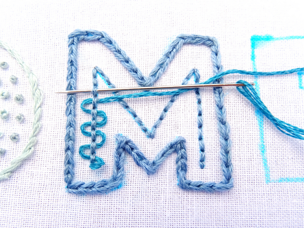 How to Embroider Large Letters