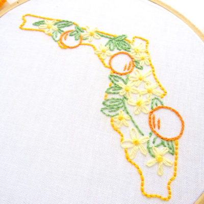 Florida State Flower Hand Embroidery Pattern {Orange Blossom}