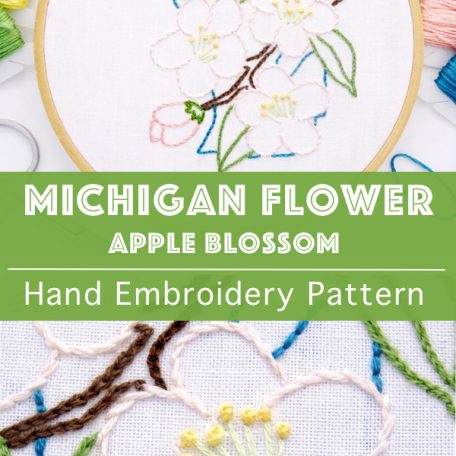 michigan-state-flower-hand-embroidery-pattern-apple-blossom