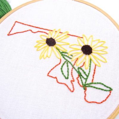 Maryland Flower Hand Embroidery Pattern {Black-Eyed-Susan}