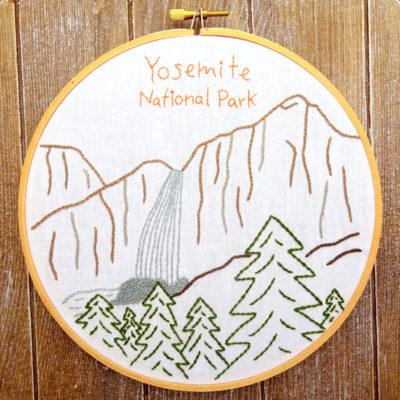 Yosemite National Park Hand Embroidery Pattern