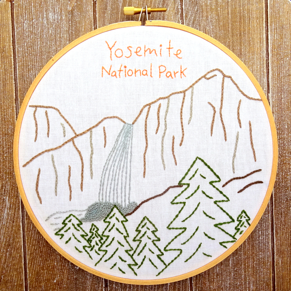 What Happened To The New Yosemite Guidebook Thread: Yosemite National Park Embroidery Pattern