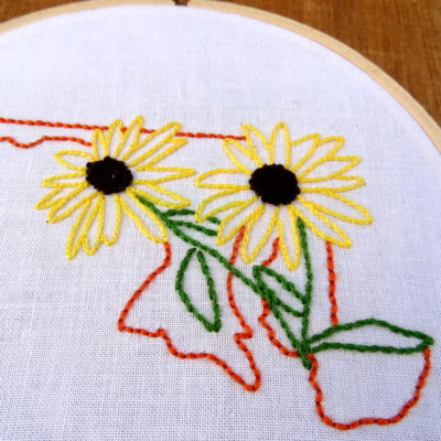 Maryland State Flower Embroidery Pattern {Black-Eyed Susan}